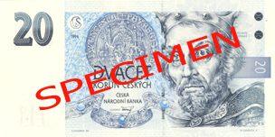 Neplatné bankovky - 20 Kč lícová strana