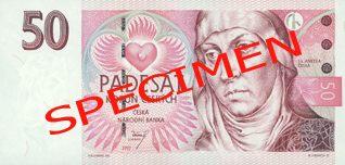 Neplatné bankovky - 50 Kč lícová strana
