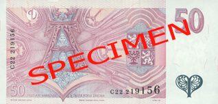 Neplatné bankovky - 50 Kč rubová strana