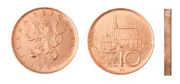 Česká mince 10 Kč – ročník ražby 1997