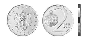 Česká mince 2 Kč – ročník ražby 1997