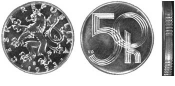 Neplatné mince - 50 haléřů