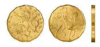 Česká mince 20 Kč – ročník ražby 1997